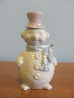 Lladro Hand Made In Spain 4 Inch Glass Snowman Ornament