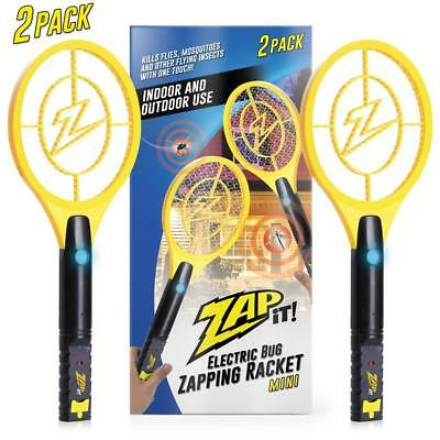 Bug Electric Zapper LED Light Mosquito Fly Killer Racket Safe Instant USB charge