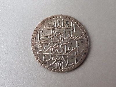 A HUGE LARGE OTTOMAN EMPIRE RARE SILVER COIN ANTIQUE ISLAMIC TURKEY 44mm