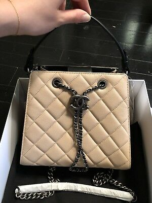 681129c86c0944 CHANEL CLASSIC CAVIER CC Bucket Bag New With Box two way - $3,100.00 ...