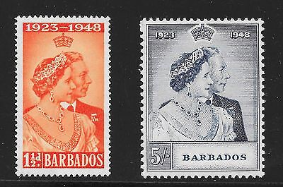 Barbados Sg 265-266 Silver Wedding -15