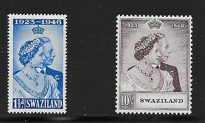 Swaziland Sg 46-47 Silver Wedding -22