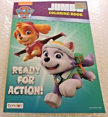 Paw Patrol Coloring Book, Ready For Action ! Rescue Pups (not Jumbo std. Book)