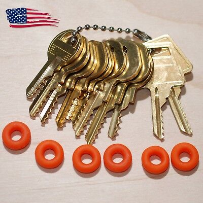 11 Original Offset, Padlock Key Sets with Bump Rings