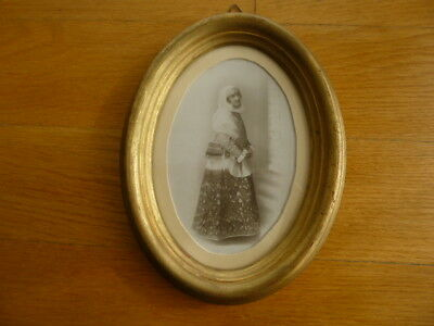 ANTIQUE 19c SILVER PRINT GREEK CABINET ALBUMEN PHOTO FOLKLORE TRADITIONAL DRESS