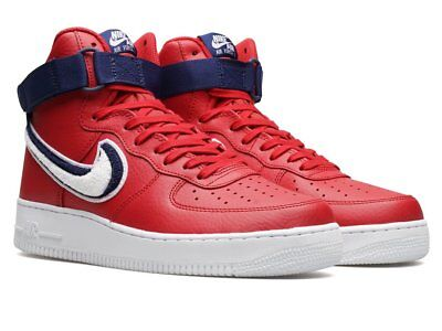 los angeles 4c2a6 06916 Nike Air Force 1 High  07 LV8   806403 603 Chenille Swoosh Red Men SZ