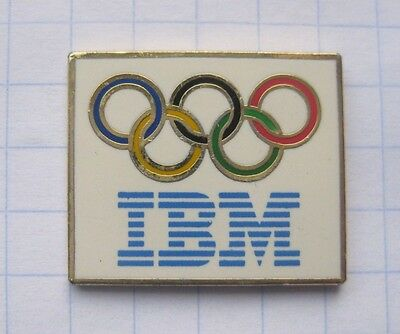 IBM / OLYMPISCHE RINGE  ...................Computer Pin (123a)