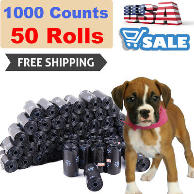 1000PCS Biodegradable Dog Pooper Scooper Dog Poo Bag For Poop and Pet Dog Waste