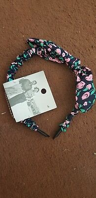 Floral Print Kids Bow Headband Girls Hair Band Bowknot Rabbit Bunny Ears Wired
