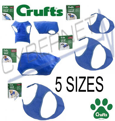 Crufts Dog Cool Cooling Coat Vest for Hot Days - All Sizes Extra Small To Large
