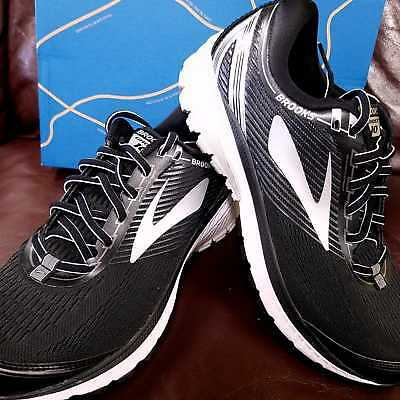 a93f2d59d28 Brand New In Box! Brooks Ghost 10 Mens Running Shoes Black Silver Grey Gray  045