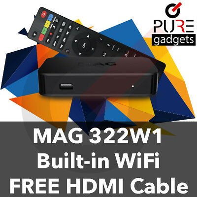 NEW Infomir MAG322w1 built-in wifi set-top-box FASTER THAN MAG254 FAST SHIPPING