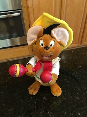 Gemmy Animated SPEEDY GONZALES PLUSH Looney Tunes-Warner Bros Sings LA BAMBA