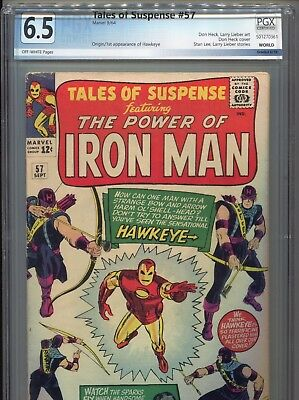 1964 Marvel Tales Of Suspense #57 1St Appearance Hawkeye Pgx 6.5 Cbcs Cgc It!