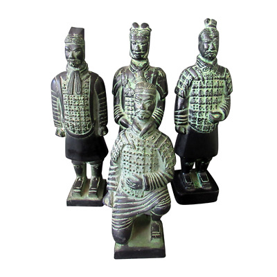 Chinese Antique Bronze Terra-Cotta Warriors And Horses Handicrafts