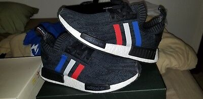 bad1820e5deab ADIDAS NMD R1 PK PRIMEKNIT BLACK TRICOLOR BB2887 9 Mens -  129.05 ...