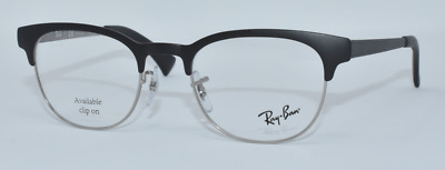874915a487 New Authentic Ray Ban Men Eyeglasses Rb6317 2832 Silver matte Black 49-20-