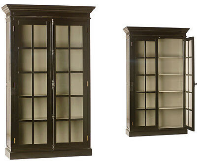 Awesome Wood/Glass  5 Shelves Bookcase/Cabinet,55'' x 88''H.