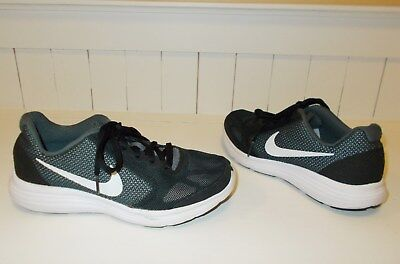 2aaa188355 Nike Revolution 3 (GS) Running Shoes Boy's Youth Size 3.5 Y Black / Gray