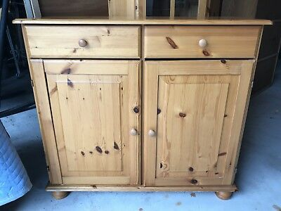 Vintage Style Knotted Pine Dry Sink / Dresser / Cabinet