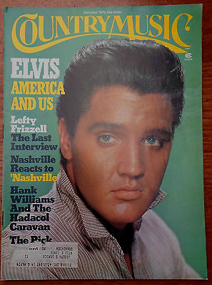 ♫ ELVIS PRESLEY cover 1975 Country Music USA mag  ♫