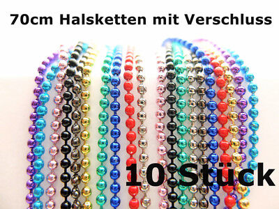 Colourful 70cm Ball Chains Mix Color Selectable rot-blau-gelb-grün-rosa-schwarz