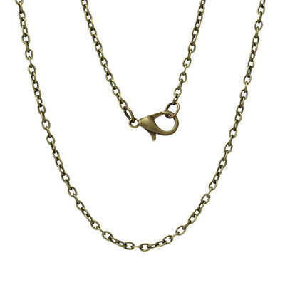 Link Chain Bronze Anchor Chain Necklace ø2x3mm 45-50-55-60-70-80 cm