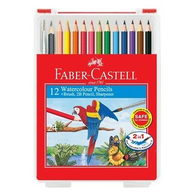 Faber-Castell 12 Watercolour Pencils in Wonder Box
