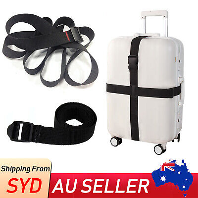 1x Adjustable Travel Luggage Suitcase Bag Packing Safe Strap Belt Camp Bind 1.5M