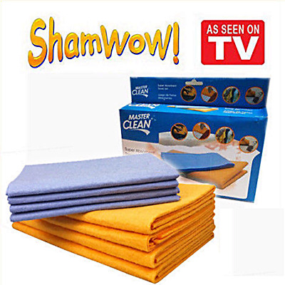 NEW !!! 8-Piece WOW Set Super Sham-Wow Shammys Absorbent Towels FREE SHIPPING