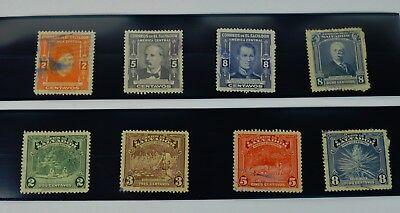 8 Vintage 1930s & 40s Genuine El Salvador Stamps Lot, Hinged