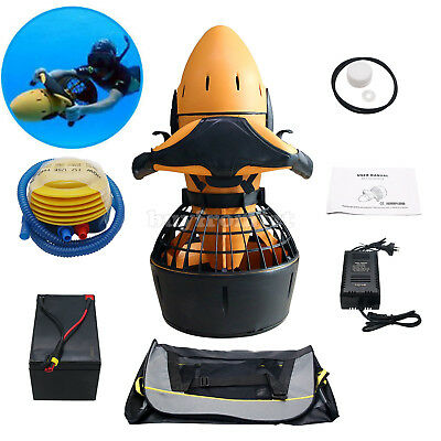 Diving Sea Scooter 300W Waterproof Pro Electric Dual Speed SafetyProp/6kmh