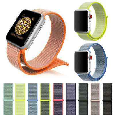 For Apple Watch Woven Stylish 38mm 42mm Watch Band Strap Sport Loop Nylon
