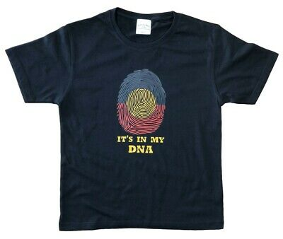 New Aboriginal Flag In My DNA T-Shirt - Childrens Sizes 00 0 2 4 6 8 10 12 14