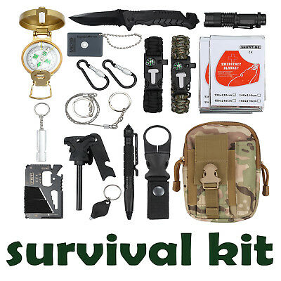 18X Outdoor Sports Survival Equipment Tactical Hiking Camping Tool Set