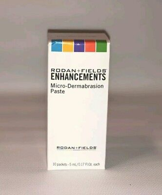 NEW Rodan + and Fields Enhancements MicroDermabrasion Paste 10 Packets
