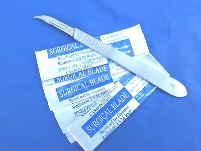 10 PCS #12 Surgical Sterile Blades + #3 Scalpel Handle Hobby/Arts/Craft/Clay