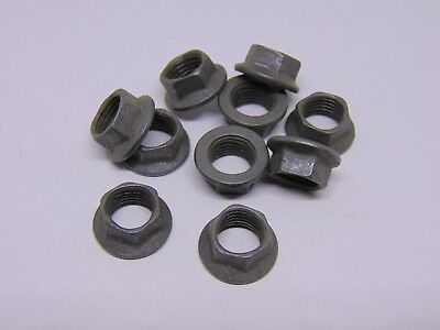 """3/8"""" UNF 6 Point Hex K-Nuts (Qty 10) Mil-Spec Flanged Nut"""