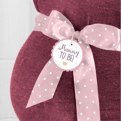 Oh Baby Mummy to be Ribbon Sash PINK with white dots Baby Shower