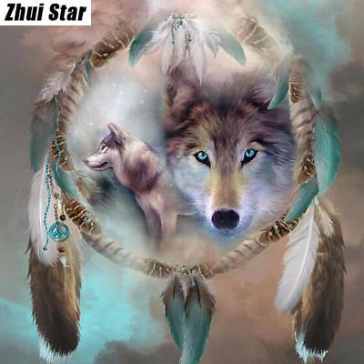 Icon Diamond Embroidery Wolf Mosaic Crystal 5D Cross Stitch Full Square Drill...