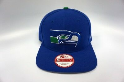 bea471db28d Seattle Seahawks New Era 9Fifty Original Fit Snapback Hat Medium Logo