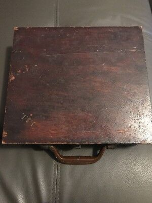 Masonic Collectable In Vintage Wooden Box
