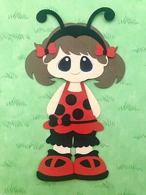 Little Lady girl (ladybug) fully assembled paper piecing / die cut