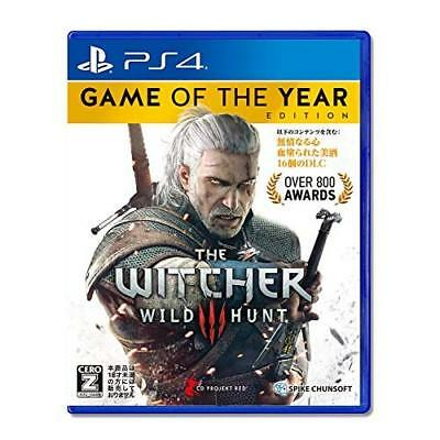 """Used PS4 Witcher 3 Wild Hunt Game of the Year Edition CERO rating """"Z"""" Japan Impo"""