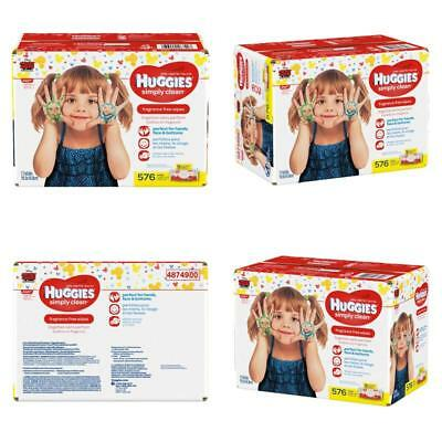Baby Wipes Sensitive Unscented Huggies For Simply Clean With Soft Pack 576 Count