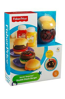 Brand New Fisher Price Servin Surprises Double Stack Burger