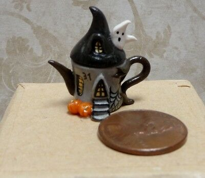 Spooky 1:12 Miniature Teapot by C. Rohal
