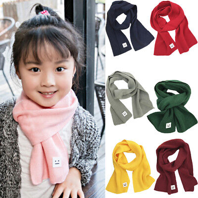 Child Kids Baby Girl Boy Knit Scarf Warm Crochet Wraps Neckerchief Scarves US