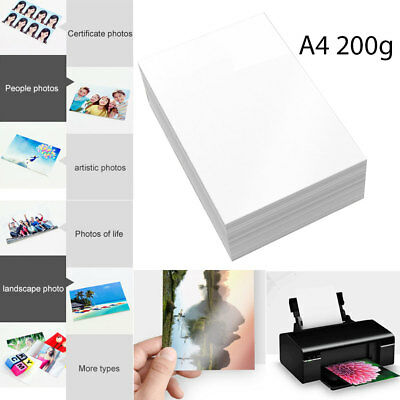 A4 Glossy Photo Paper Home Inkjet Printers Quick Drying Art Galleries
