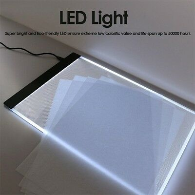 A4 LED Tracing Board Copy Pads Drawing Tablet Panel Painting Plate Acrylic